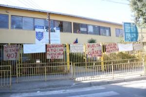 Dependencias de la escuela municipal Santo Domingo de Gusmán. Foto: Cerro Navia cierra sus colegios