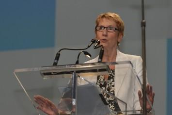 Susan Hopgood, presidenta de la Internacional de la Educación. Foto: IE