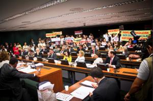 Votação do Plano Nacional de Educação, em abril de 2014. Foto: Mídia Ninja