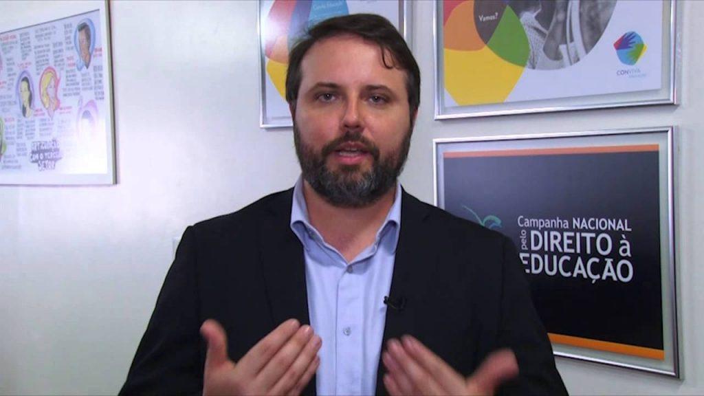 Daniel Cara, coordinador de la Campaña Nacional por el Derecho a la Educación de Brasil
